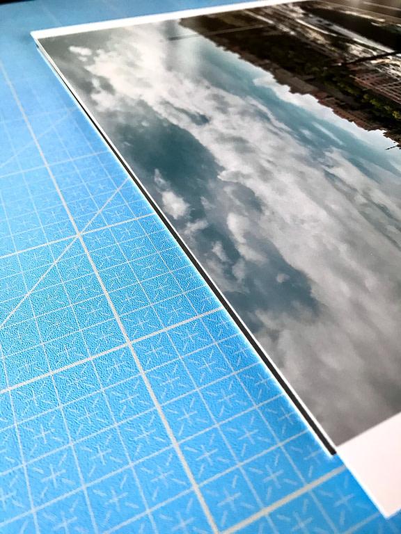 alignement de la photo sur la plaque de panexpan