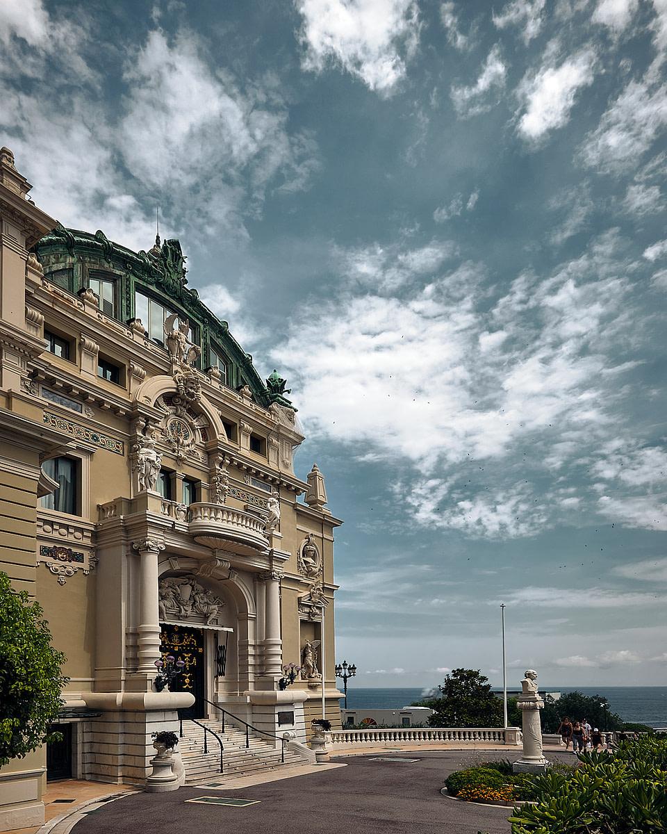 Entrée de la Salle Garnier - Maison de l' Opera de Monte-Carlo à Monaco