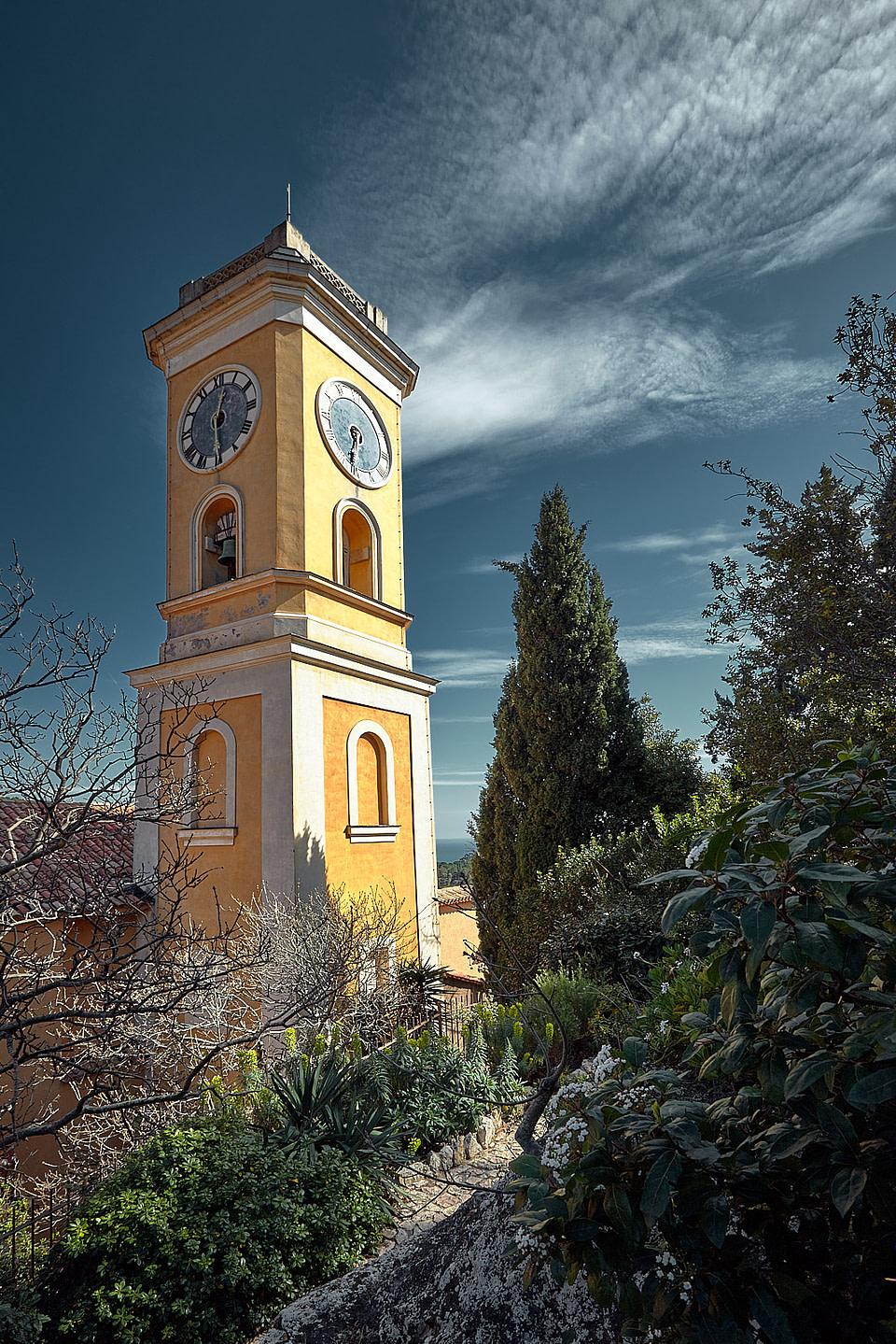 Clocher de l' église Notre-Dame de l'Assomption à Èze Village