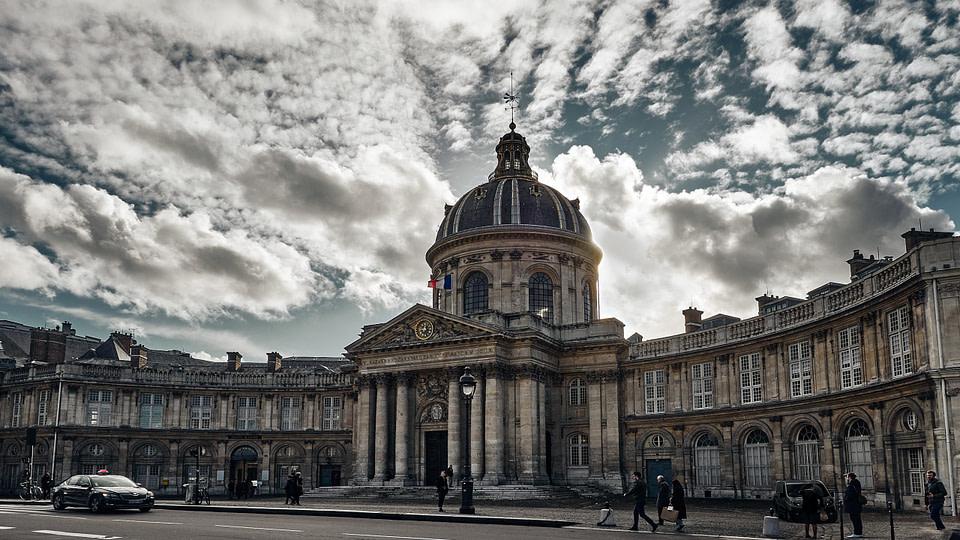 La Façade de l'institut de France sur le Quai de Conti