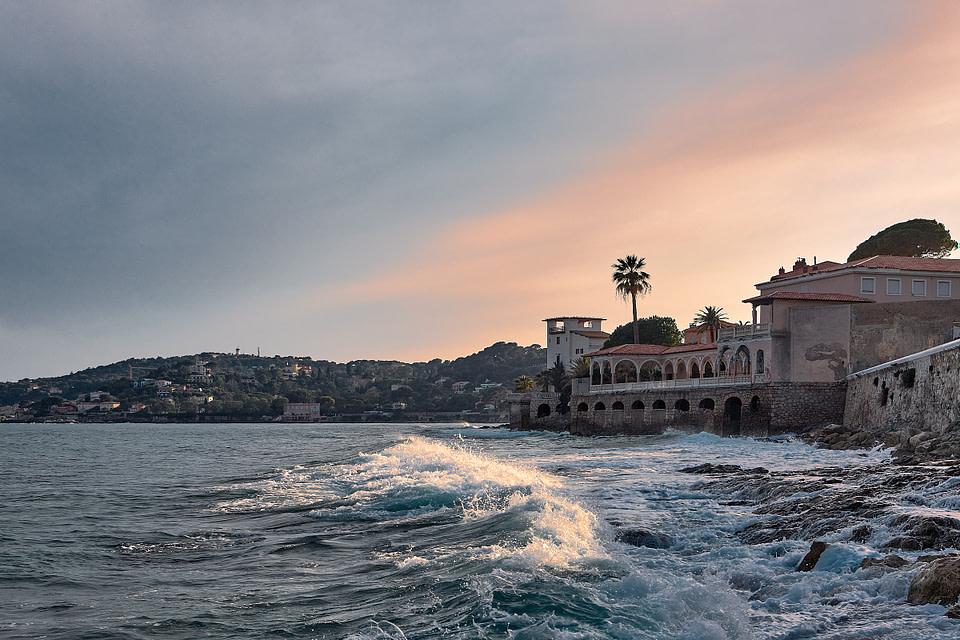 Soleil couchant en bord de mer - Villa Kerylos - Beaulieu sur Mer